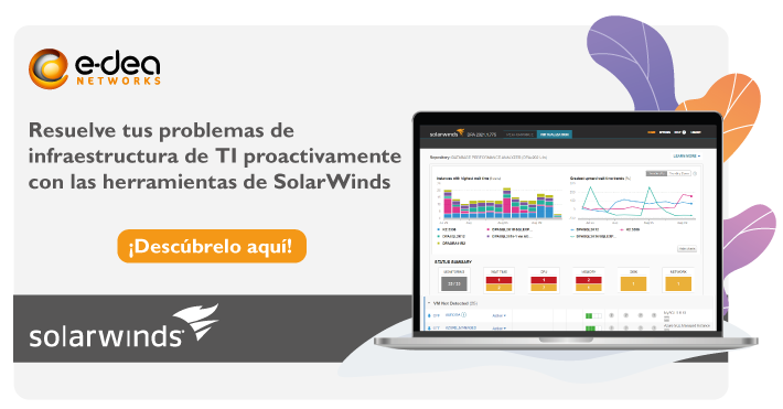 Resuelve problemas de infraestructura TI con SolarWinds